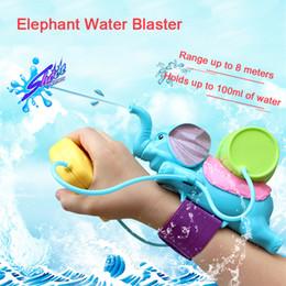Wholesale Wooden Toy Pistol - Elephant Water Blaster Children Favorite Summer Beach toys Educational Water Fight Pistol Swimming Wrist Water Guns LA483-2
