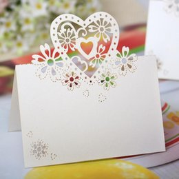 Wholesale Table Seat Wedding Wholesale - Laser Cut Cards Clip European Creative Hollow Butterfly Heart Shape Seat Card Beautiful Seat Card Clip For Wedding Table Decorations