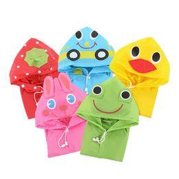 Wholesale Babies Rain Coats - Hot Sales Waterproof Baby Rain Gear Fashion Hoodie Cartoon Raincoat Children Outdoor Walking Raincoat Animal Baby Raincoat