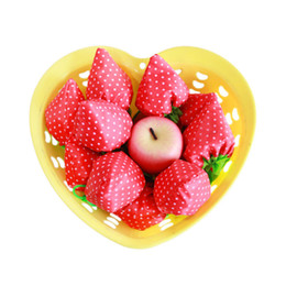 Wholesale Door Hold - Creative Strawberry Shopping Bags Folding Reusable Portable Pouch Eco Friendly Hand Held Storage Bag Lovely Gift 1 55hd B