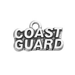 Wholesale Metal Animal Series - Nautical Series Jewelry Coast Guard Metal Word Charms Accessories For DIY