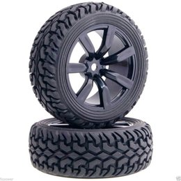 Wholesale Rc Rally - 4Pcs RC HSP 9047-8019 Wheel Rim & Rally Tires Tyre For 1:10 On-Road Rally Car