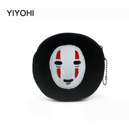Wholesale Children Purse Sale - Wholesale- New 2016 Hot Sale Kawaii Cartoon spirited away Children Plush Coin Purse Zip Change Purse Wallet Kids Girl Women For Gift