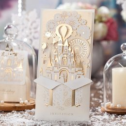 Wholesale Wedding Invitation Cards New Designs - New Personalized Design White The Bride and Groom Dress Style Invitation Card Wedding Invitations Envelopes Sealed Card marki CW5093