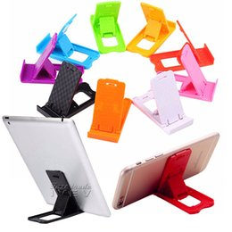 Wholesale Mini Galaxy Mobile - 2017 New Folding Mini Mobile Phone Holder plastic Lazy Phone stand Bed Display phones Accessories for Iphone Tablet Samsung Galaxy Xiaomi