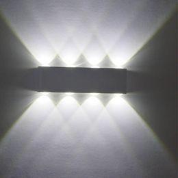 2019 números de casa iluminados Moderno simple Led lámparas de pared de aluminio 12W Aluminio LED iluminación de pared AC85v-265v envío gratis decoración moderna iluminación interior luz