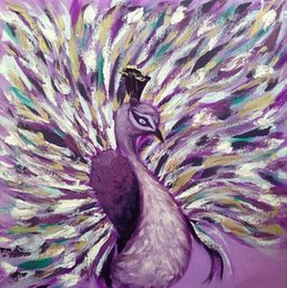 Wholesale Life Size Peacock - Beautiful Animal Abstract Peacock,Pure Hand Painted Modern Wall Decor Animal Art Oil Painting High Quality Canvas.customized size a-mei