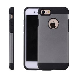 Wholesale Plastic S4 - Dual Layered Anti-Shock Hard cover Hybrid Armor Case back shell For Samsung S4 S5 S6 S7 S8 Edge Plus