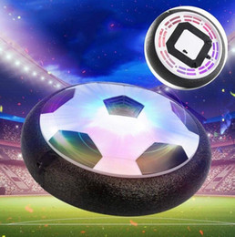 Wholesale Soft Led Balls - Led Air Power Soccer Ball Disc Indoor Football Toy Multi-surface Hovering and Gliding Toy Soft Foam Floating gliding Soccer Ball KKA1772