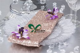 Wholesale Napkin Polyester - 40cm*40cm Sequin Table Napkin For Wedding Table Cloth Decoration