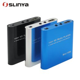 Wholesale Hdd Media Player 3d - Mini Full HD 1080P 3D Media Player Box USB HDD Flash HDMI Player System with Remote Control