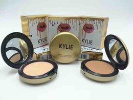Wholesale Skin Whitening Cream Korea - kylie jenner face power Kylie face powder profession makeup Studio Fix Powder Plus Foundation press 4 colors VS bb cream korea