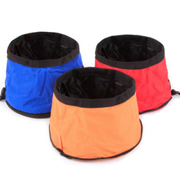 Wholesale Wholesale Ceramic Pet Dishes - Waterproof Oxford cloth Collapsible Feeding Bowl Dog Water Dish Cat Portable Feeder Puppy Pet Travel Bowls
