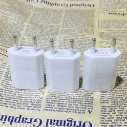 Wholesale Ego Wall Adapter Usa - Mini EU USA Wall Adapter USB Home Travel Charger Power Cube 1A USB Wall Charger For iphone 4S 5S 6s Cig eGO Battery