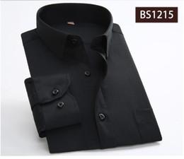 Wholesale Office Wear Xxl - Classic Striped Men Dress Shirts Long Sleeve Plus Size Formal Groom Wear Business Male Work Office Shirts