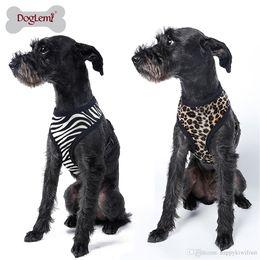 Wholesale Leopard Dog Collars - Zebra Leopard Printed Pet Harness Cheap Dog Cloth Small Pet Dog Vest Harness Dog Apparel