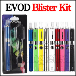Wholesale Ego Clearomizer Starter Kits - EVOD MT3 Blister Kits Packs 650 900 1100mah Vape Pen Battery With Mt3 Clearomizer 510 Ego Charger E Cigarette Vaporizer Single Starter Kit