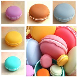 Wholesale Plastic Medical Container - Jewelry Box Macaron Shape Storage Box Candy Organizer Pill Case Container 10*10*5 cm 8 Colors Free Shipping