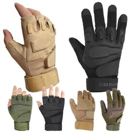 Wholesale Finger Support Gloves - Wholesale- 2017 Tactical Gloves Outdoor Full Finger Cover Motocycle Army Gloves Anti-skid Microfiber Mens Sports Safety Gloves Combat Gear