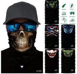 Wholesale Skull Knight - HOT Magic Headband Death Knight Pirate Scarf Skull Skeleton Ghost Ski Cycling Headwear Headband Motorcycle Neck Bandana 3D Face Mask TOP1786