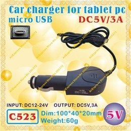 Wholesale Wholesale Vido Tablet - Wholesale-2pcs [C523] micro USB   5V,3A Car charger for tablet pc;ONDA,CUBE,AMPE,SANEI,AINOL,VIDO,FREELANDER,ONN,IAIWAI,ALLFINE