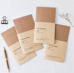 Wholesale notebook grid - Wholesale- Traveller Note Fashion Creative Inner Book 18.8*10.2cm DIY Journal Supplies Notebook 60 Sheets Lined Blank Weekly Plan Grid