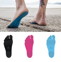 Wholesale Sole Shoe Sticker - Sticker Shoes Stick On Soles Sticky Pads NAKEFIT For Feet Beach Sock Waterproof Shoes Stick On Soles Sticky Pads For Feet