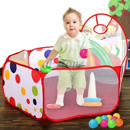 Wholesale Wholesale Ball Pits - Wholesale- Portable Childrens Kids Room Ocean Ball Pit Pool Playhut Outdoor Indoor Toy Tent