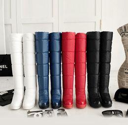 Wholesale Waterproof Wedge Winter Boots Women - 2017 over-the-knee winter snow boots female waterproof fleece thickening slip-resistant down boots elevator boots