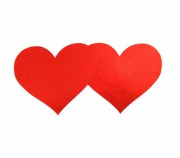 Wholesale Heart Shaped Nipple Covers - large size 7.8*7cm heart shape 5colors Safety and environmental protection disposable nipple covers sticker breast pad T- Tit tape cover