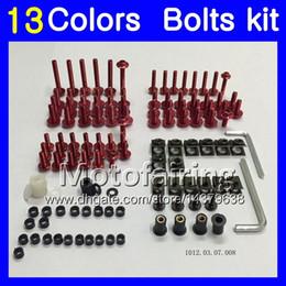 Wholesale Mv Agusta Fairings - Fairing bolts full screw kit For MV Agusta F4 05 06 R312 750S 1000 R 750 1000R 312 1078 MA 2005 2006 Body Nuts screws nut bolt kit 13Colors