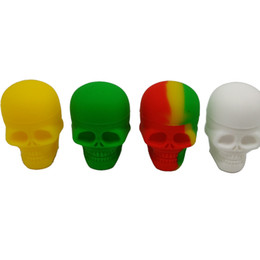 Wholesale 15ml Jar - Screw Storage Container 15ml Non-stick Skull Silicone Wax Jar For Oil Slicks Container With Rich Color 1pcs lot