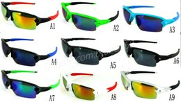 Wholesale Color Frame Clear Glasses Wholesale - Mix Colors New Summer sunglasses man woman Flak sunglass Outdoor cycling sports sunglasses googel glasses free shipping.