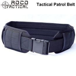 Argentina MOLLE Tactical Waistband Tactical Molle Padded Patrol Belt Combat Cinturón de cintura Airsoft Army Gun Pistola Cinturón Suministro