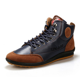 Wholesale modern high heel shoes - PP FASHION Men's High-top lace up Modern Fashion Sneaker Casual Shoes Flat heel Tendy for man