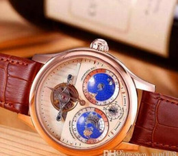 Wholesale Ad Pin - 2016 new high ad land quality ceramic bezel face leather watch band Automatic Watch Mechanical Watch Relogio Clock
