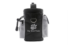 Wholesale Dog Slings - 15 8cr Hot Sale Black Dog Treat Pouch For Training Pets Snack Bags Convenient Garbage Pouchs Walking The Dogs Pocket Eco Friendly R