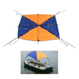 Wholesale Inflatable Kayaks - 4-person Inflatables Kayak Canoe Rowing Boat Sun Shelter Awning Top Cover Fishing Tent Sun Shade Rain Canopy with Hardware