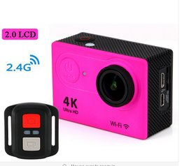 """Wholesale Sports Action Video Camera Remote - Ultra Full HD Upgrated 4K H9R WIFI Action Cameras 2.4G Remote Control 1080P 2"""" LCD Sports Video Camera Camcorders Helmet Cam"""