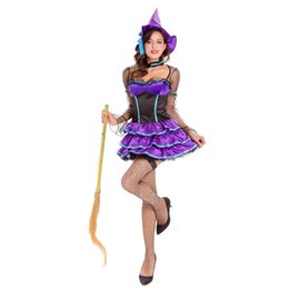 Wholesale Devil Queen Costume - 2017 Halloween Costume Devil Queen Cosplay Party Role Playing Uniforms Christmas Carnival Masquerade dress New High Quality