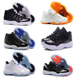 Wholesale Basketball C - Cheap Air Retro 11 XI Basketball shoes men and women Bred black white Concord Low and High space jam Sneaker Sizellic Gold sneakers