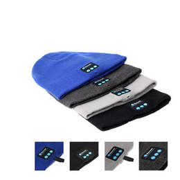 Wholesale Dome Wireless - Bluetooth Beanie Soft Warm Music Cap Stereo Wireless Hat Headphone Headset Speaker Microphone Handfree For IPhone 7 Plus for Samusng S7 Edge