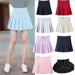 Wholesale Woman Korean Clothing Style - New 8 Colors Summer style sexy Skirt for Girl lady Korean Short Skater Fashion female mini Skirt Women Clothing Bottoms