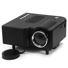 Wholesale Gaming Supplies - Wholesale-UC-40 HD 400 Lumens Home Mini LED Projector LCD Projector Support AV SD VGA HDMI SD Card Electronic Zoom Vehicle Power Supply