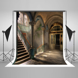 Wholesale Photography Backdrop Indoor - 5x7ft(150x220cm) Photography Backdrops Room Indoor Retro Building for Wedding Photography Backdrops