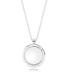 Wholesale Large Glass Lockets - 2016 Factory Price Winter Collection 925 Sterling Silver Floating Locket Large Necklace With Charm Crystal Glass Fit Bracelet