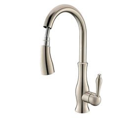 Wholesale Bathroom Faucet Styles - 2017 wholesale and retail high quality all copper brushed bathroom faucet hot and cold single hole European pull-style kitchen faucet + kitc