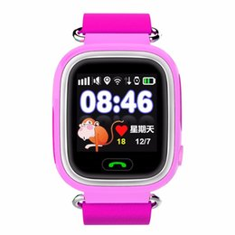 Wholesale Hearts Position - New 2016 Kids GPS Smart Watch Q90 Watch With WIFI Positioning SOS Call Locator Kids Finder For Children Anti Lost Tracker