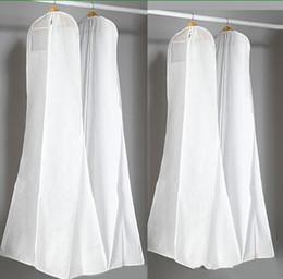 Große 180 cm Hochzeitskleid Kleid Taschen Hohe Qualität Weiß Staubbeutel Lange Kleidungsstück Abdeckung Reisespeicher Staubschutz Heißer Verkauf von Fabrikanten