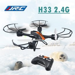 Wholesale Gyro Photography - JJRC H33 2.4G Quadcopter Mini Drone Selfie RC Helicopter 2.4G Four Axis Gyro Quadrocopter Aerial Photography Drones Aircraft *